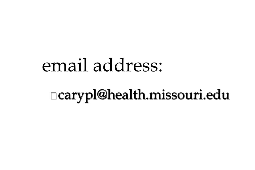email address: carypl@health.missouri.edu