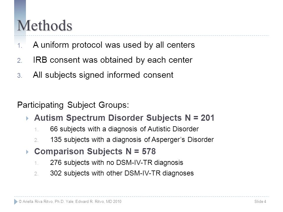 Methods A uniform protocol was used by all centers
