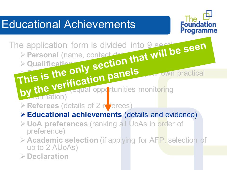 Educational Achievements