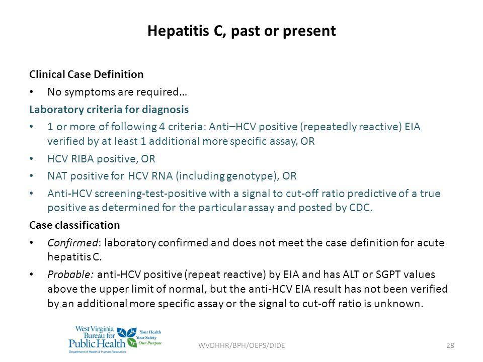 Hepatitis C, past or present