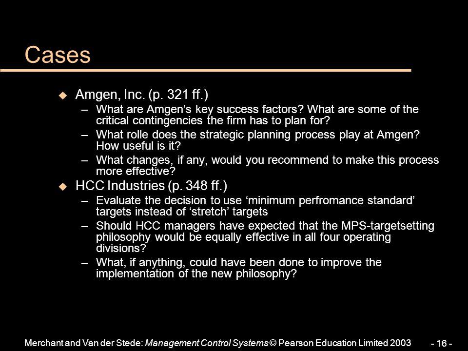 Cases Amgen, Inc. (p. 321 ff.) HCC Industries (p. 348 ff.)