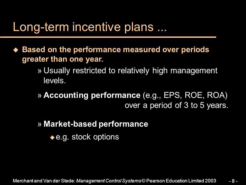 Long-term incentive plans ...