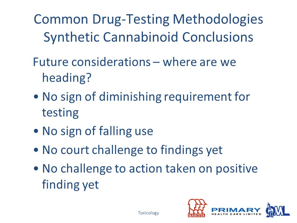 Common Drug-Testing Methodologies Synthetic Cannabinoid Conclusions
