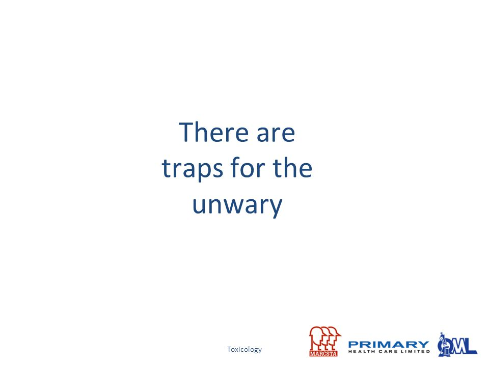 There are traps for the unwary