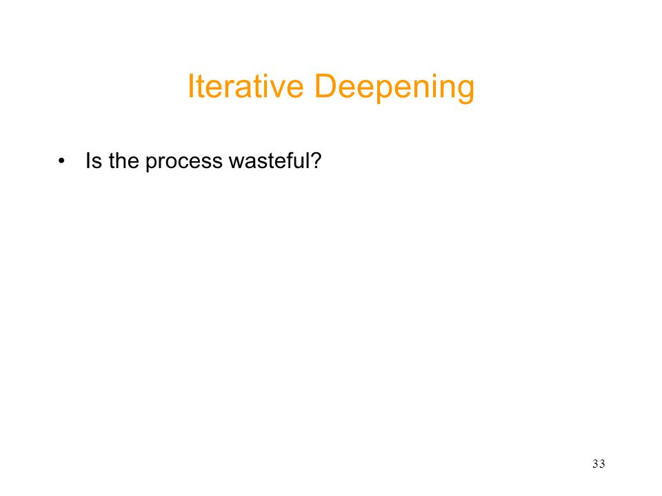 Iterative Deepening Is the process wasteful