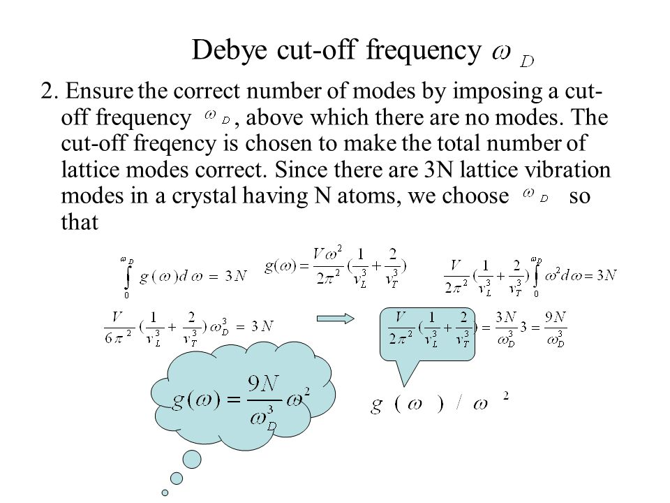 Debye cut-off frequency