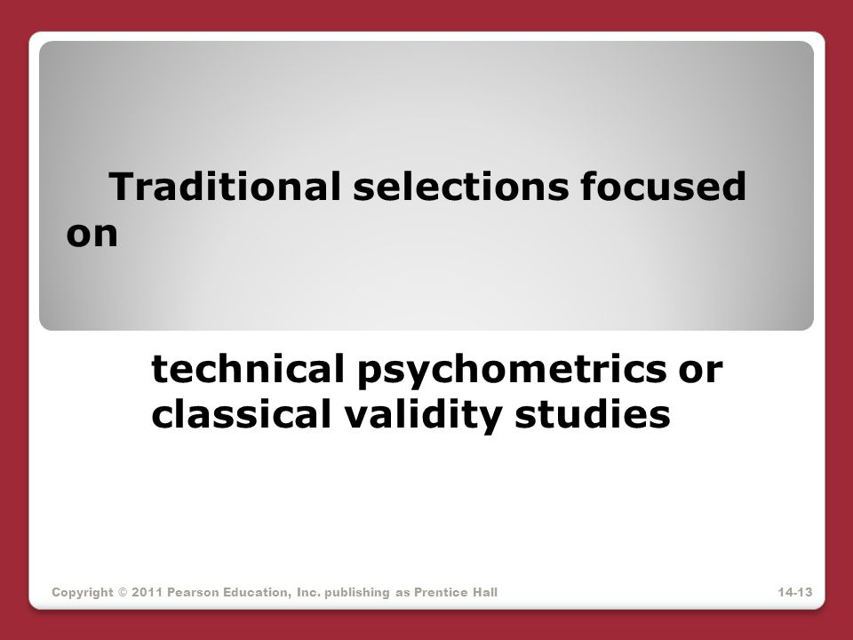 Traditional selections focused on