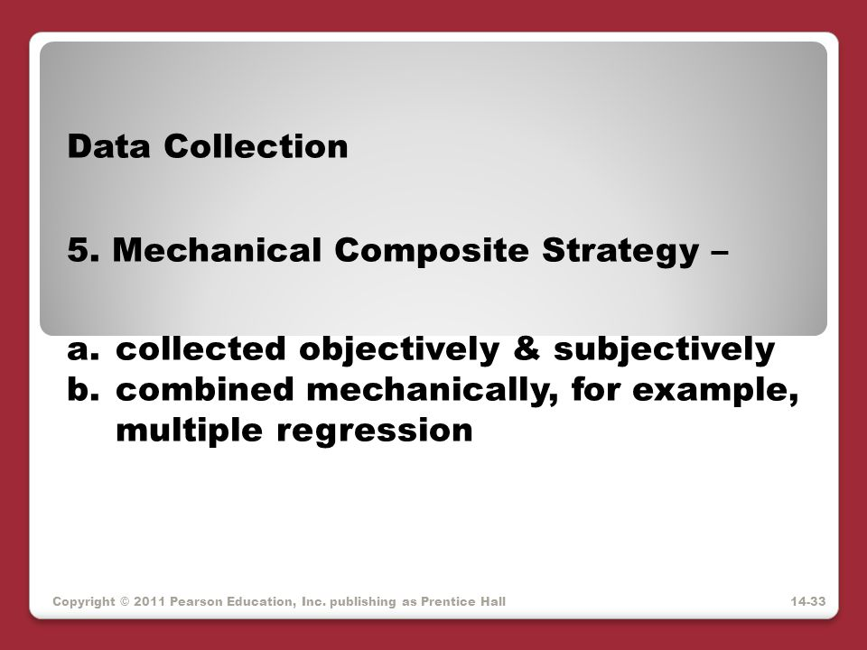 5. Mechanical Composite Strategy –