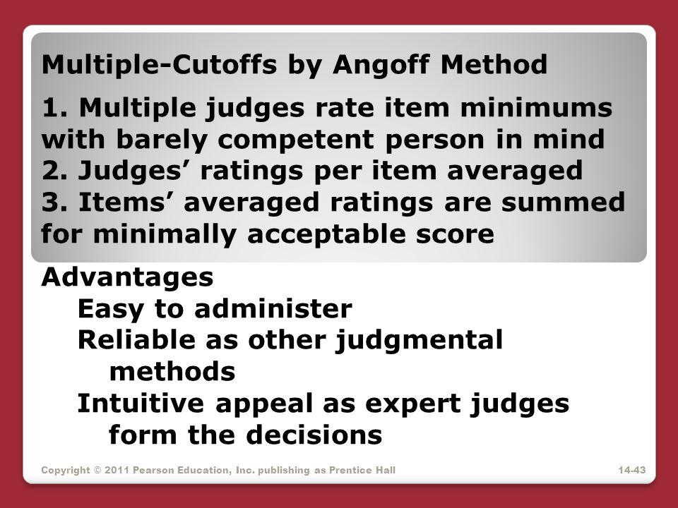 Multiple-Cutoffs by Angoff Method