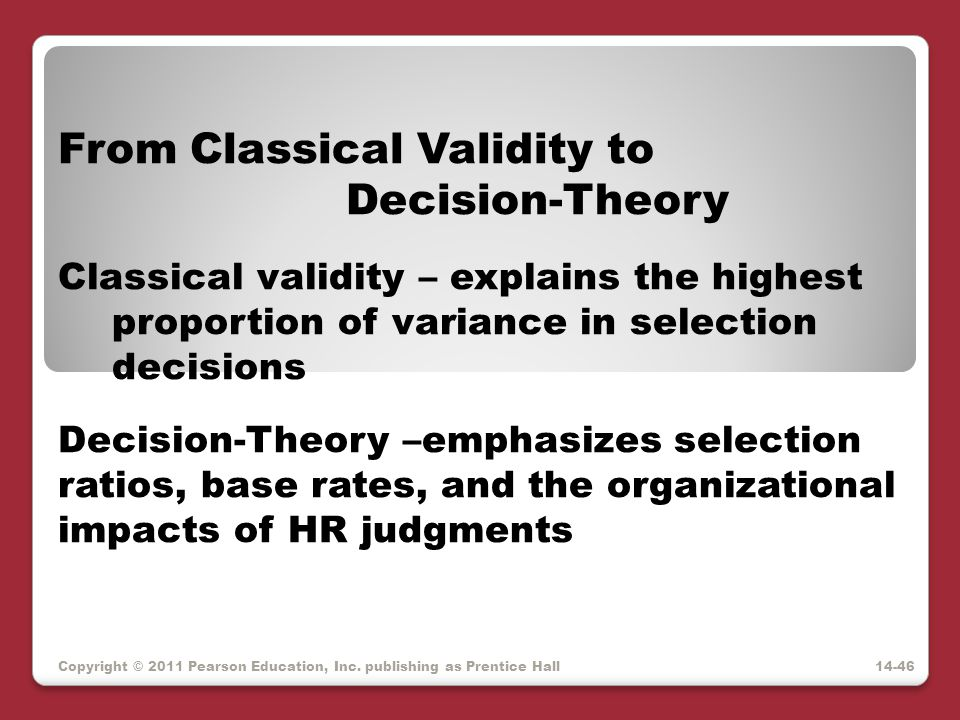 From Classical Validity to Decision-Theory