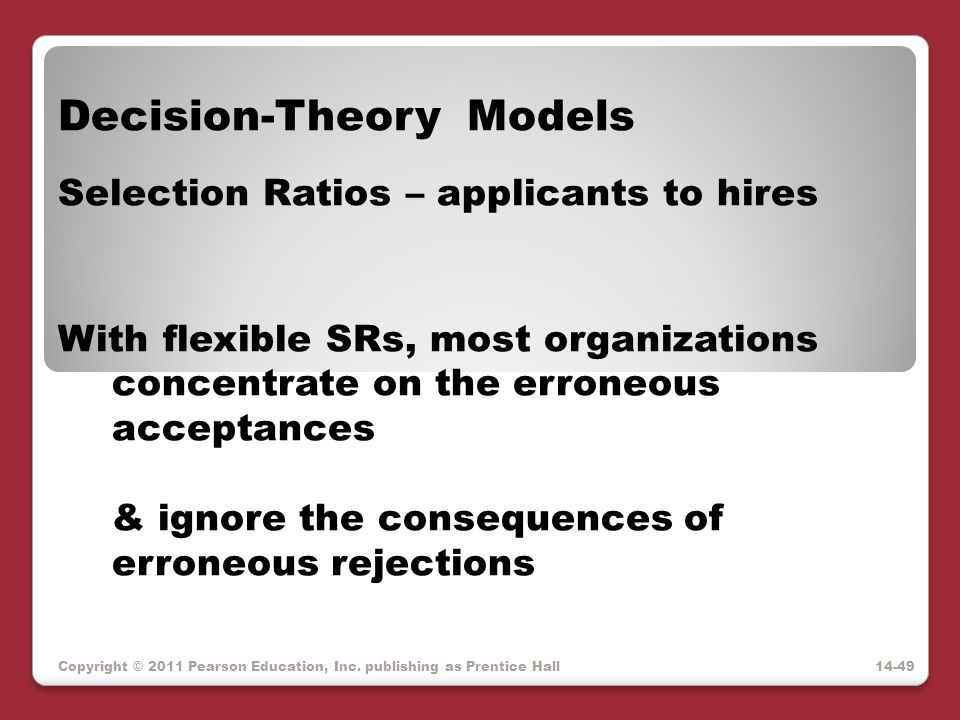 Decision-Theory Models