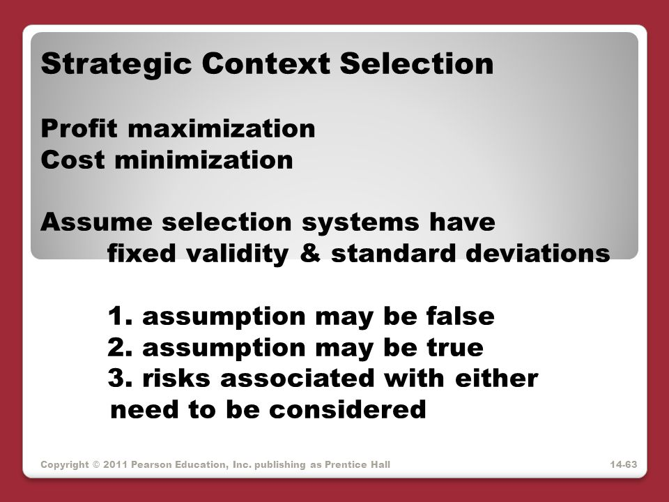 Strategic Context Selection