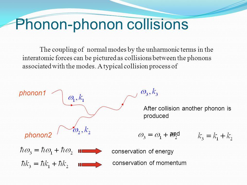 Phonon-phonon collisions