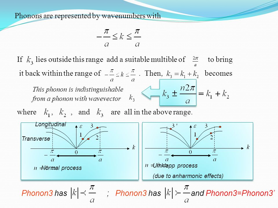 Phonons are represented by wavenumbers with