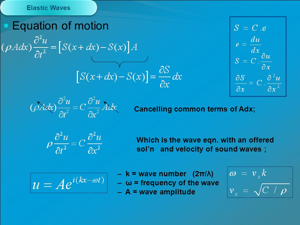 Equation of motion Cancelling common terms of Adx;