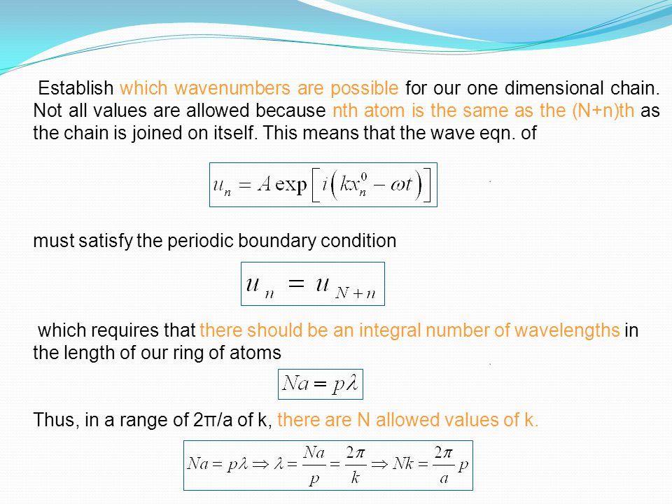 must satisfy the periodic boundary condition