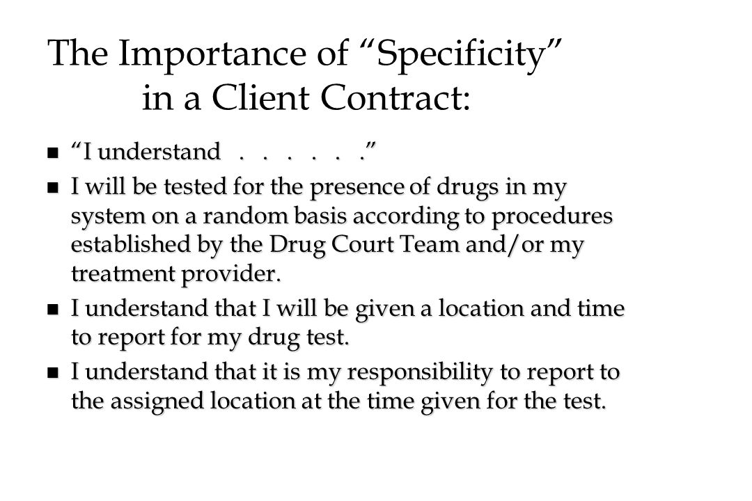 The Importance of Specificity in a Client Contract: