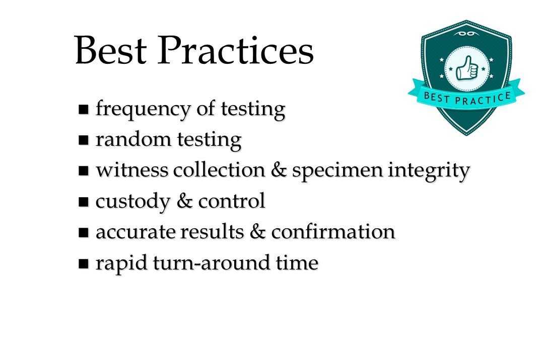 Best Practices frequency of testing random testing