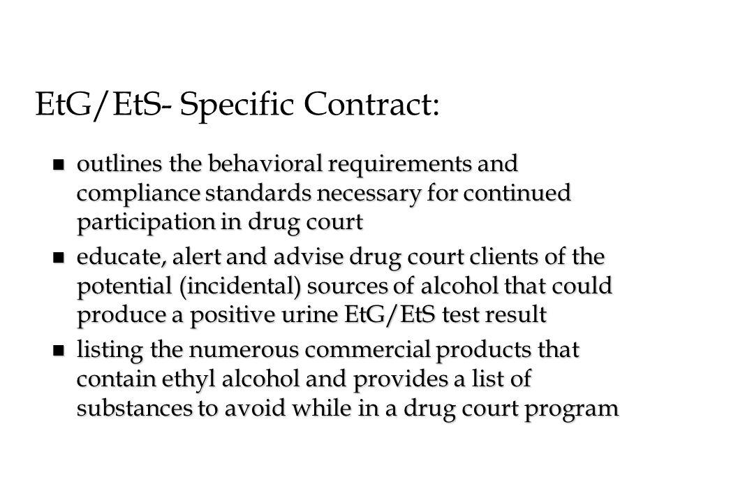 EtG/EtS- Specific Contract: