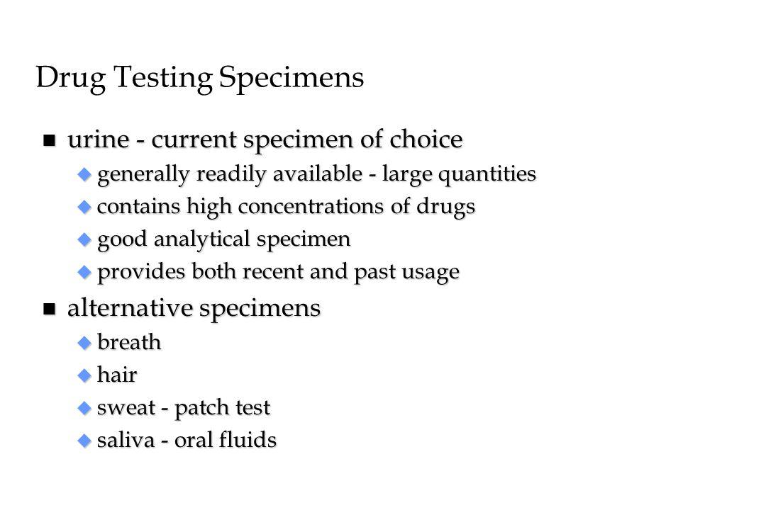 Drug Testing Specimens