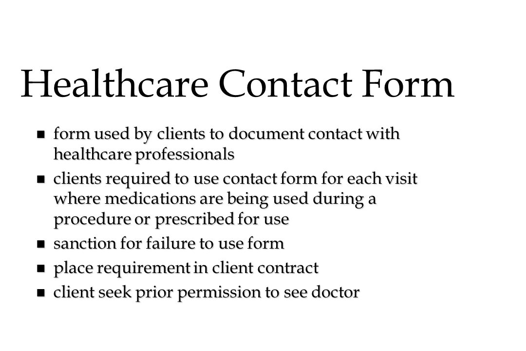 Healthcare Contact Form