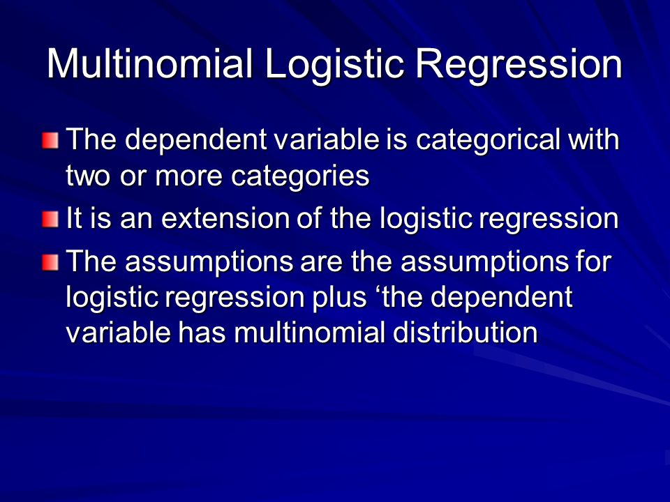Multinomial Logistic Regression