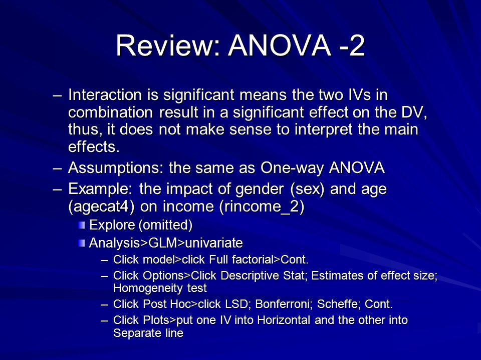 Review: ANOVA -2