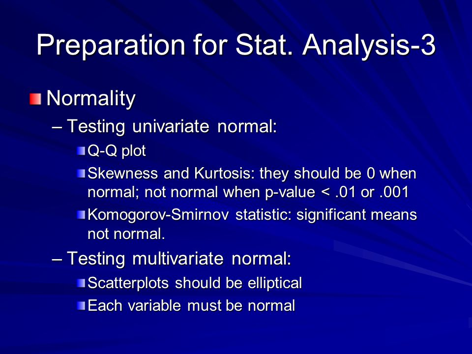 Preparation for Stat. Analysis-3