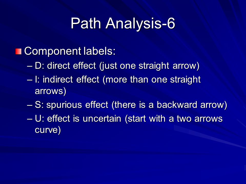Path Analysis-6 Component labels: