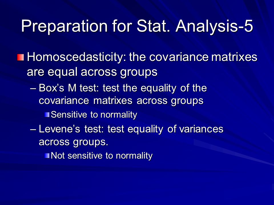 Preparation for Stat. Analysis-5