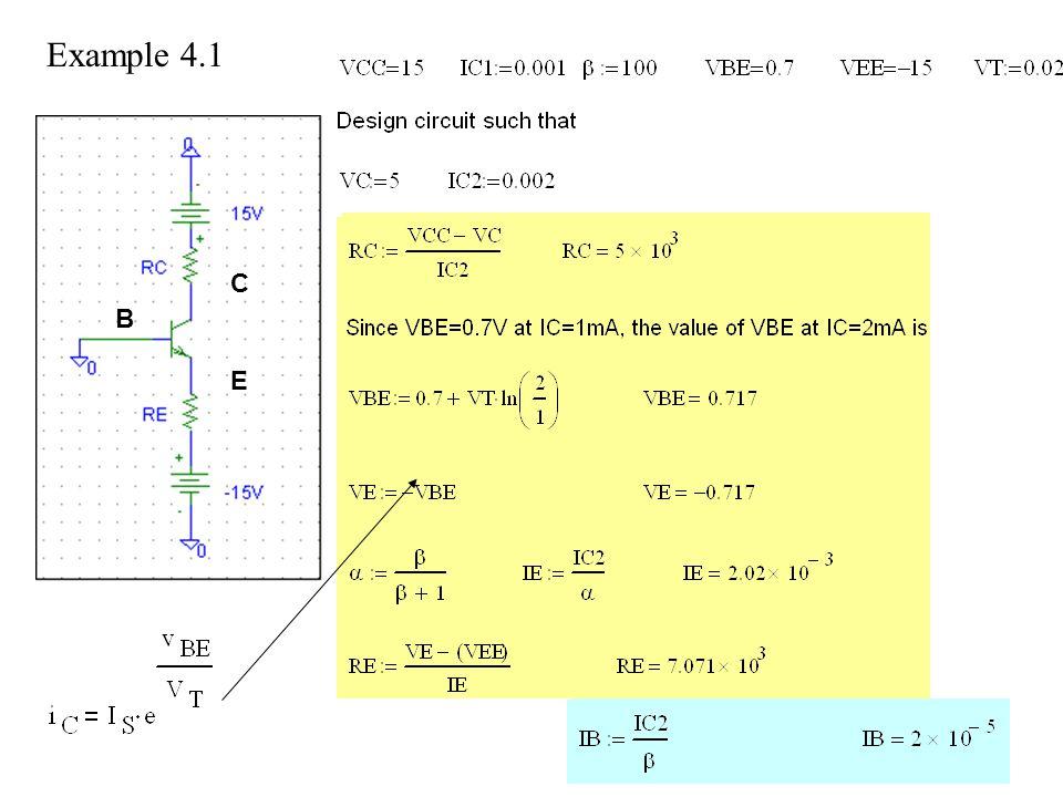 Example 4.1 C B E