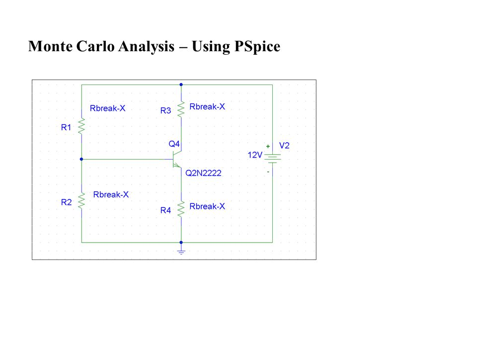 Monte Carlo Analysis – Using PSpice