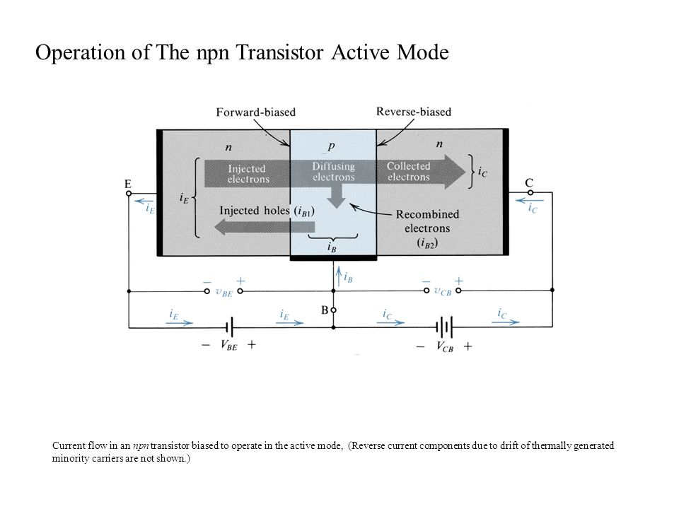 Operation of The npn Transistor Active Mode