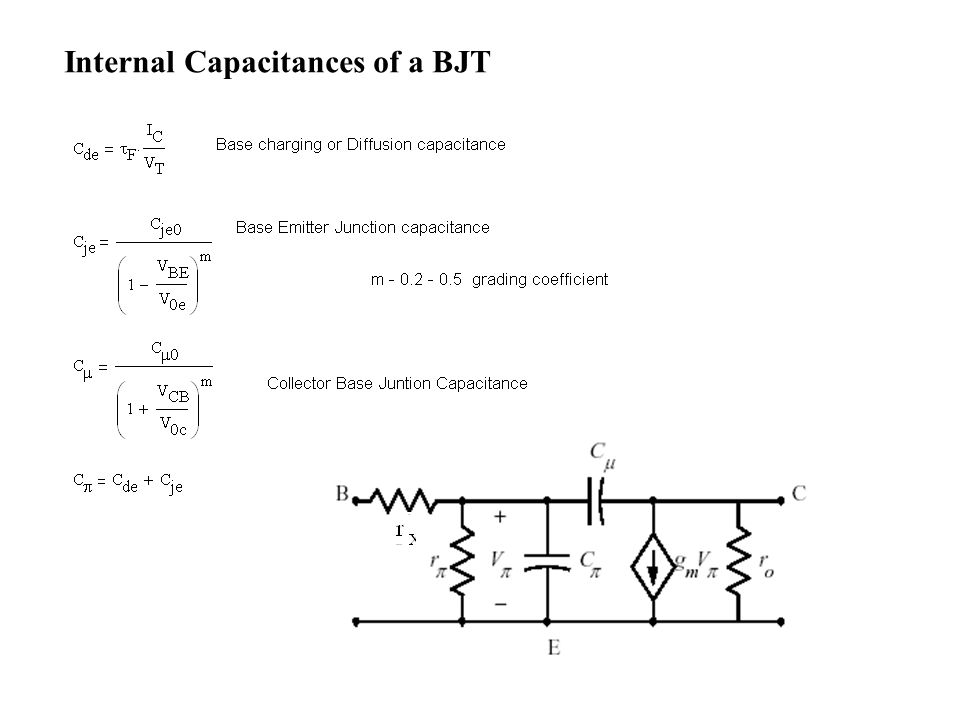 Internal Capacitances of a BJT