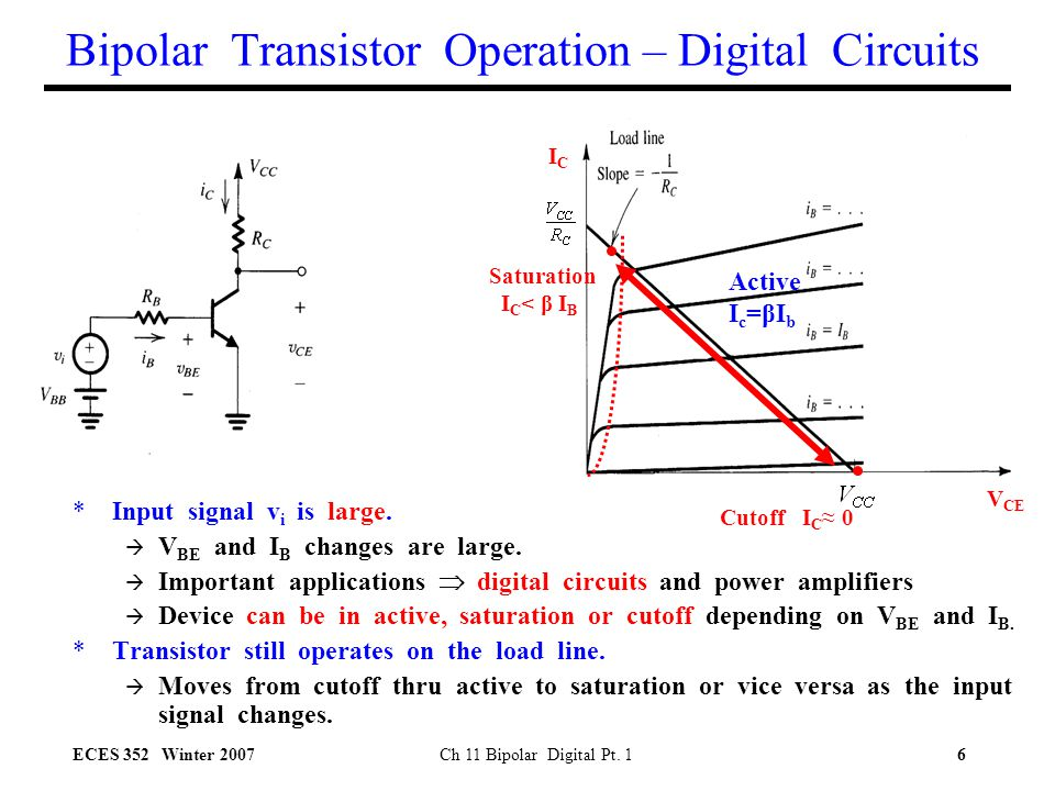 Bipolar Transistor Operation – Digital Circuits