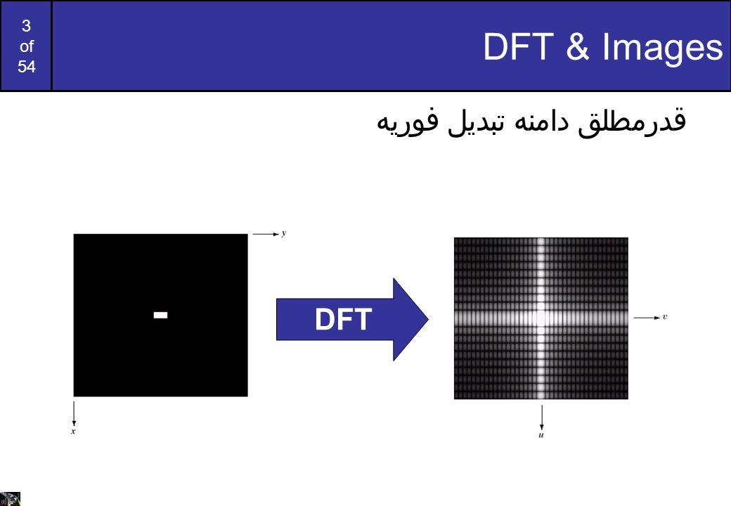 DFT & Images قدرمطلق دامنه تبدیل فوریه DFT
