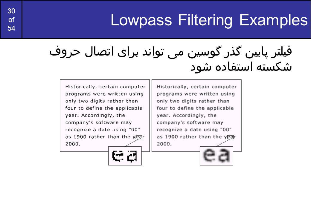 Lowpass Filtering Examples
