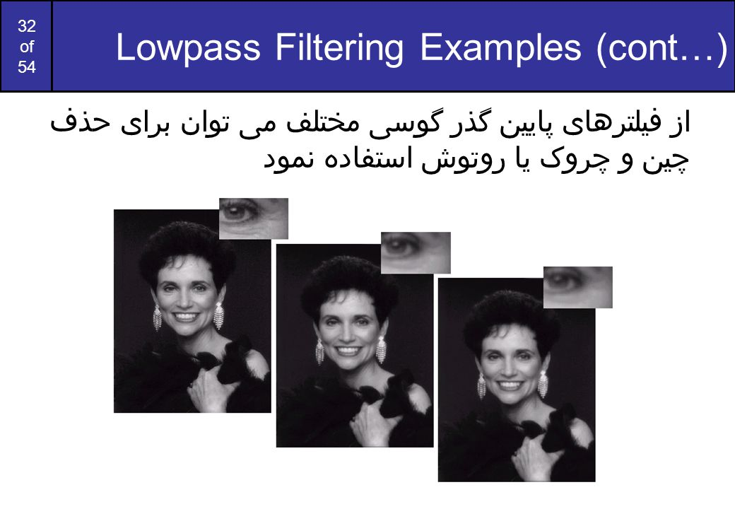 Lowpass Filtering Examples (cont…)