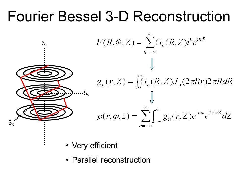 Fourier Bessel 3-D Reconstruction