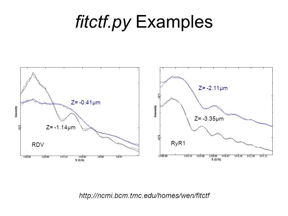 fitctf.py Examples http://ncmi.bcm.tmc.edu/homes/wen/fitctf Z= -2.11μm