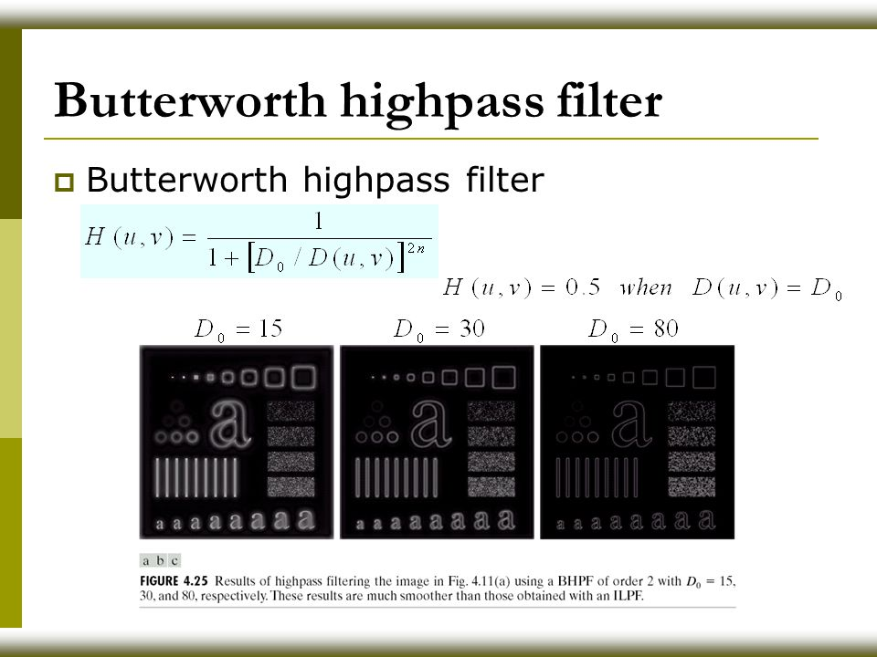 Butterworth highpass filter