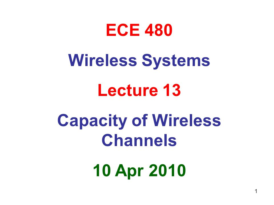 Capacity of Wireless Channels