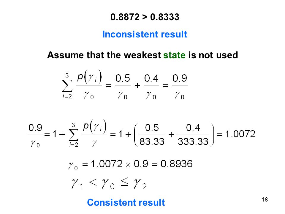Assume that the weakest state is not used