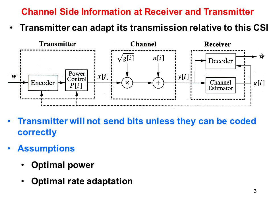 Channel Side Information at Receiver and Transmitter