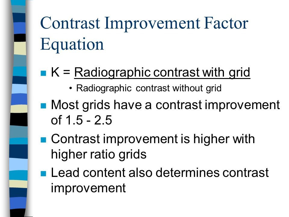 Contrast Improvement Factor Equation