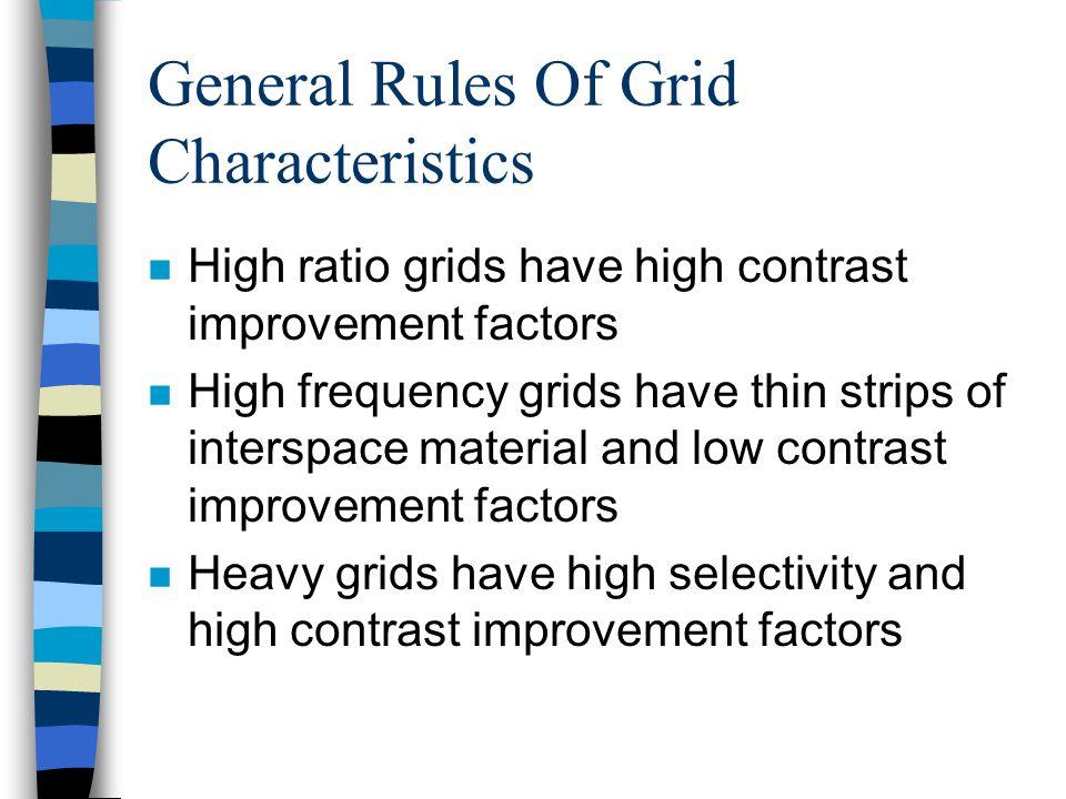 General Rules Of Grid Characteristics