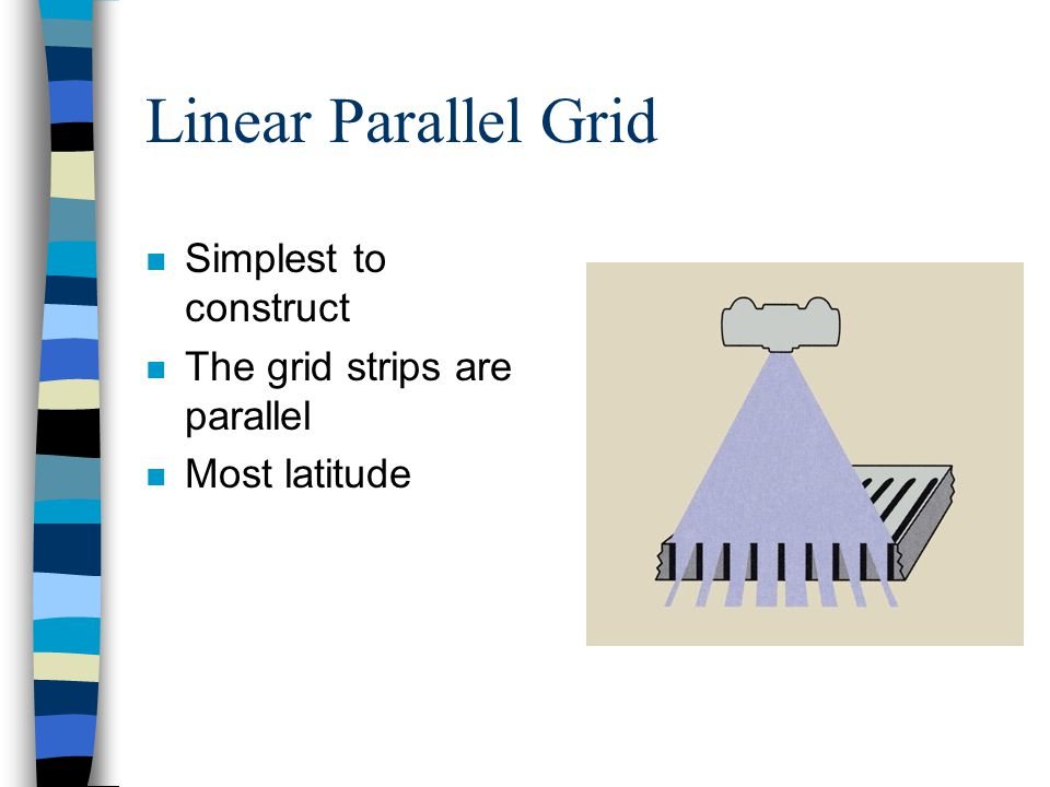Linear Parallel Grid Simplest to construct