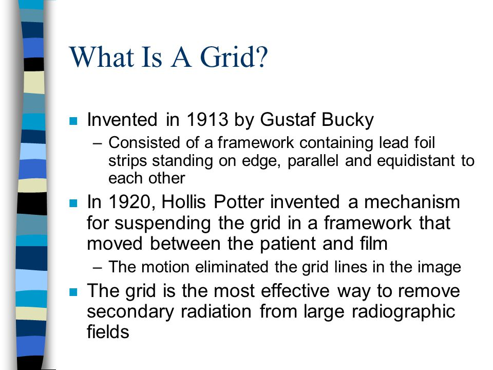 What Is A Grid Invented in 1913 by Gustaf Bucky