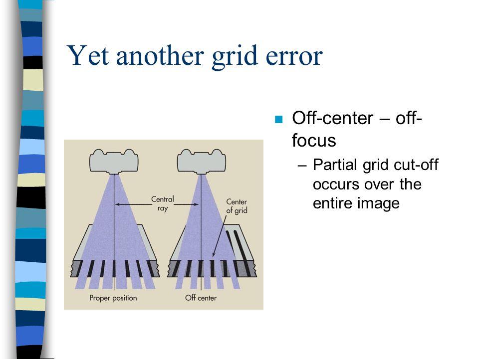 Yet another grid error Off-center – off-focus