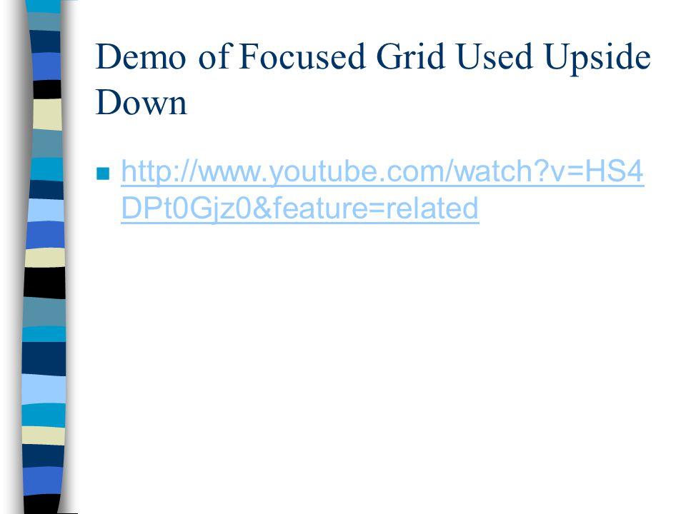 Demo of Focused Grid Used Upside Down